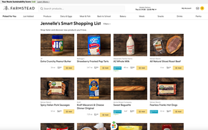 Online Grocer Farmstead Introduces Smart Shopping List, Accurately
