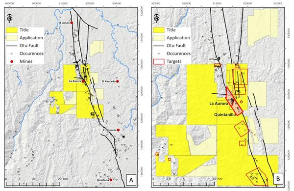 General maps of O2Gold mining rights