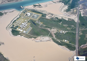Artistic impression of Texas LNG's planned liquefaction facilities.