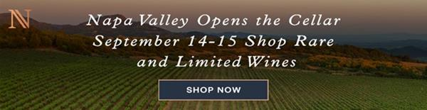 Shop Rare and Limited Napa Valley Wines September 14-15, 2021