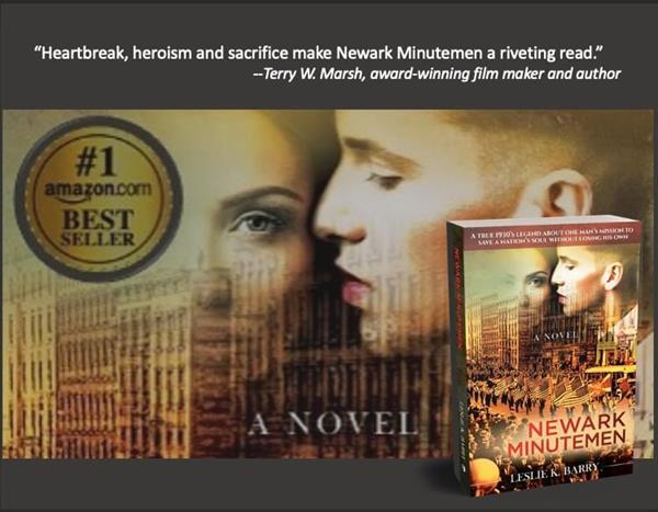 The best selling historical novel Newark Minutemen by Leslie K. Barry will be released as an audio book on May 31st. Find out more at newarkminutemen.com.