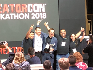 Knowledge18 Hackathon Win