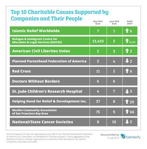 Top 10 Charitable Causes Supported by Companies and Their People