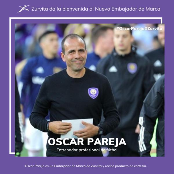 Zurvita da la bienvenida al entrenador profesional de fútbol Oscar Pareja como nuevo Embajador de Marca de Zurvita