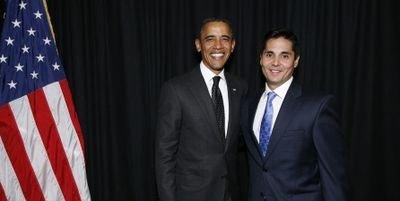 Edmond DeFrank with United States President Barack Obama