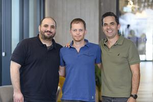 Vdoo executive team, L-R:Asaf Karas, co-founder & CTO; Uri Alter, co-founder & President; Netanel (Nati) Davidi, co-founder & CEO