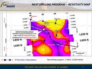 Figure 7 Resistivity map and next drilling program