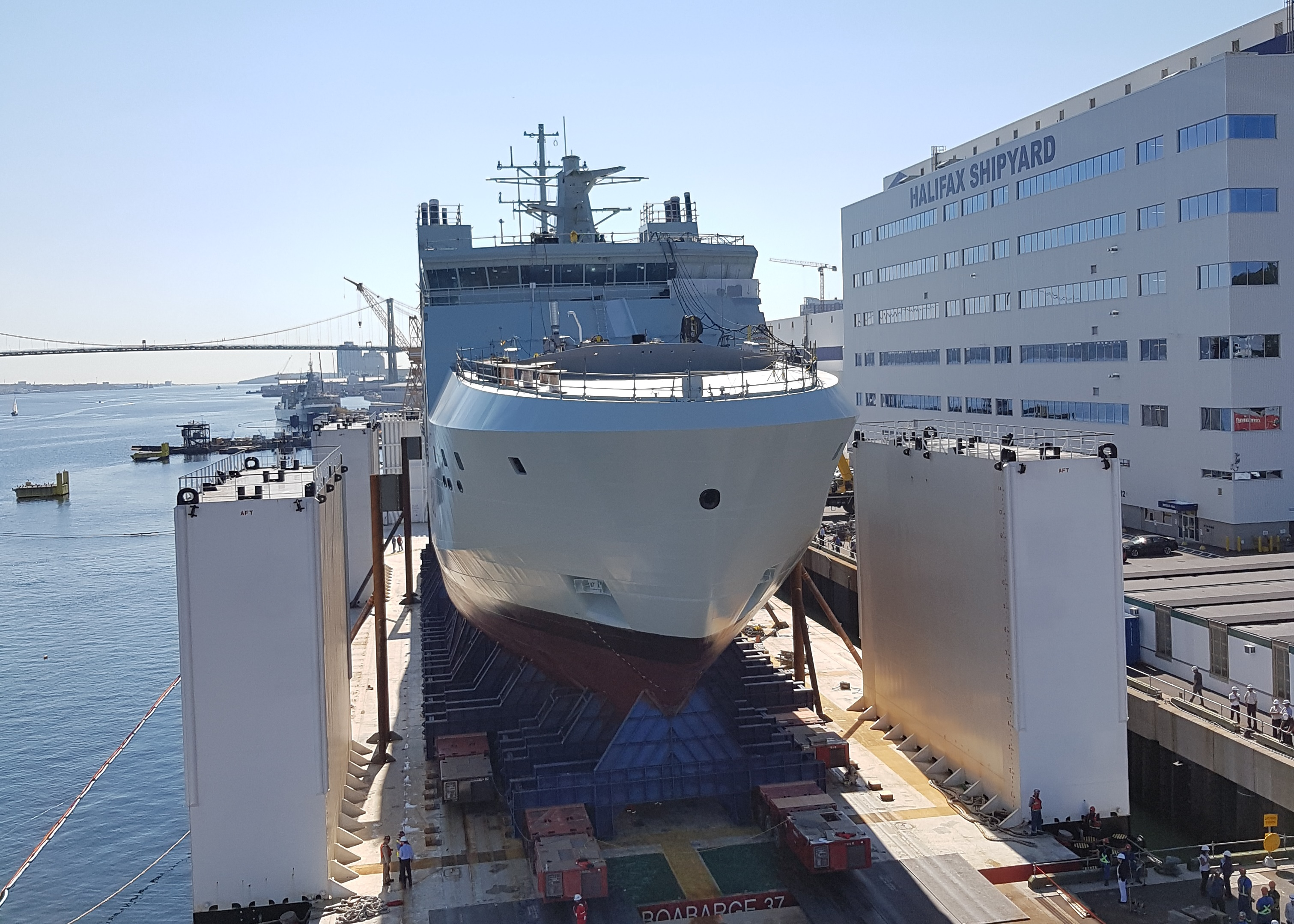 Canada's lead Arctic and Offshore Patrol Ship prepares for launch