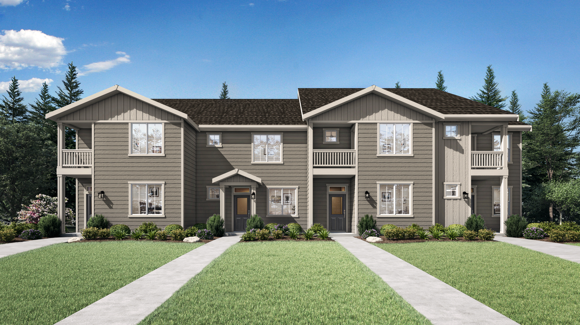 Portland Area Townhomes by LGI Homes at 5th Plain Creek Station.