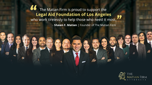 The Matian Firm contributes $5,000.00 to LAFLA