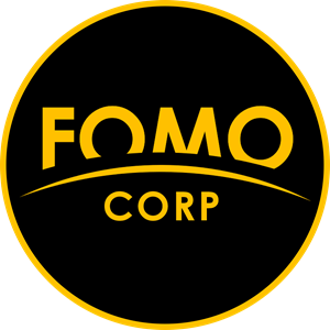 FOMO CORP. logo in black circle with orange outline on circle (1).png