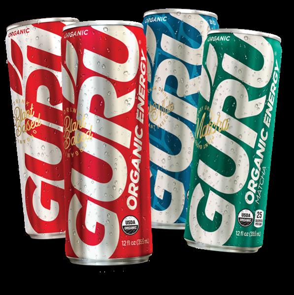 Les boissons énergisantes biologiques GURU à base de plantes