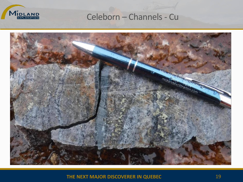 Copper mineralization at Celeborn - 2