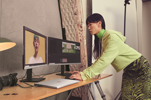 A mobile personal creative studio, the HP ENVY 14 is the company's first 14-inch diagonal screen with a 16:10 display to see 11% more content for increased productivity, and HP Enhanced Lighting – a selfie light to customize and enhance a person's appearance in video calls. [5]
