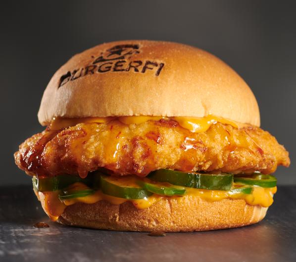 BurgerFi Spicy Fi'ed Chicken Sandwich