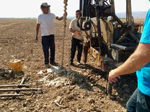 Drilling of 3 shallow boreholes