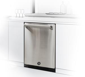 Brama Stainless Dishwasher by Vinotemp