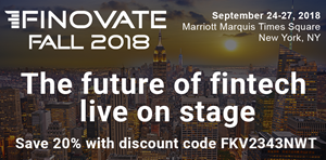 20 Percent Discount Code for FinovateFall 2018