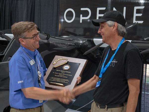 Marcus Leng Receives EAA 2019 August Raspet Award