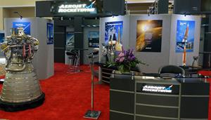 Aerojet Rocketdyne exhibit at Space Symposium booth 118