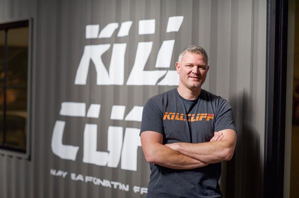 Photo of John Timar in a Kill Cliff shirt.
