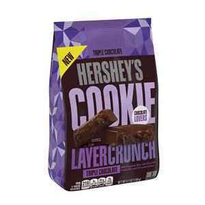HERSHEY'S COOKIE LAYER CRUNCH Triple Chocolate 6.3 oz. 9-Piece Bag