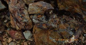 Mineralized rock