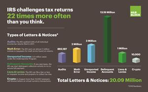 IRS challenges tax returns 22 times more often than you think