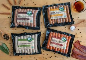 Niman Ranch now offers four varieties of breakfast sausage links: Smoked Bacon, Vermont Maple, Apple Cinnamon and Traditional. Niman Ranch meats are 100% Certified Humane, raised on pasture or deeply bedded pens by small, independent family farmers, with no antibiotics or hormones--ever.