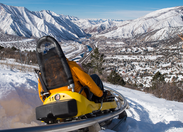 Alpine Coaster at Glenwood Caverns Adventure Park in Glenwood Springs. Open year-round with Winter on the Mountain and fun thrill rides.