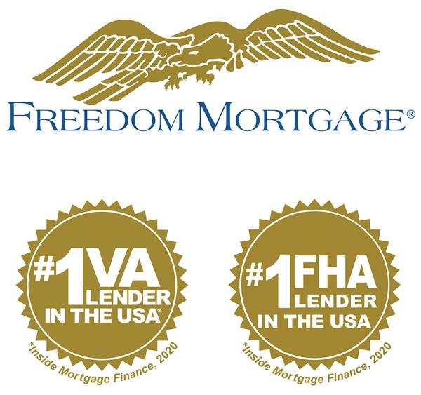 """Freedom Mortgage ranked the #1 VA and #1 FHA Lender in the U.S. in 2020 according to Inside Mortgage Finance magazine. """"Many Americans are not aware there are a variety of government backed loans they can take advantage of to finance their first home with very little to no down payment,"""" said Stanley C. Middleman, Freedom Mortgage founder and CEO. """"It's an honor to help more homeowners with their VA or FHA loans than any other lender in the country."""""""
