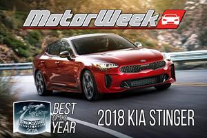 """MotorWeek's 2018 """"Best of the Year"""" Revealed: Kia StingerTV"""
