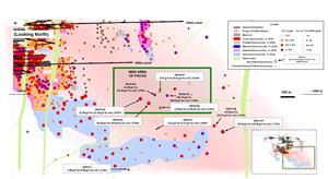 Figure 2 - Island Gold Mine Longitudinal Main and Eastern Extensions - Surface Directional Drilling Results