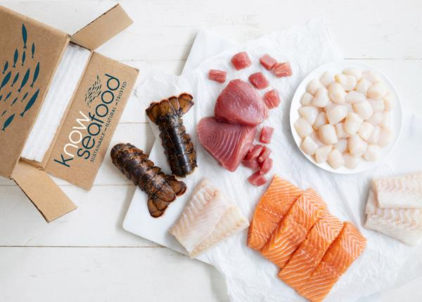 KnowSeafood is shipped in Vericool boxes made with 100% compostable and recyclable materials and choices include Rocky Coast Lobster Tails from Owls Head, Maine; Maldhoni line-caught tuna from the Maldives; Marine Stewardship Council certified sea scallops from Nordic Wild in New Bedford, Mass; and sushi-grade Aurora Salmon from Lerøy in Norway.