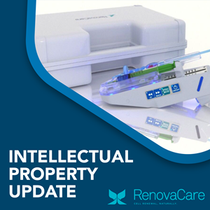 RenovaCare Awarded New Patents for SkinGun™: Ultra-Gentle Cell Spray Technology