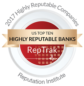Top 10 Most Reputable U.S. Banks logo