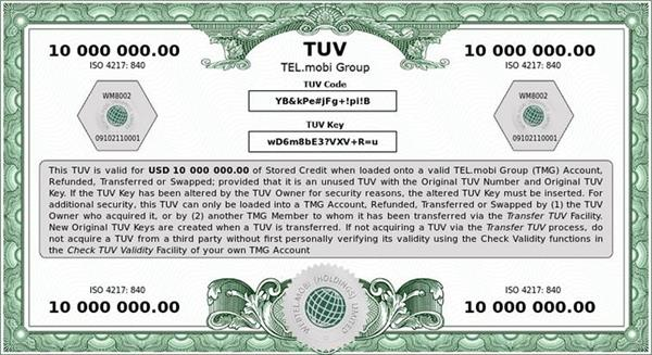 Tel.mobi Group's TUVs