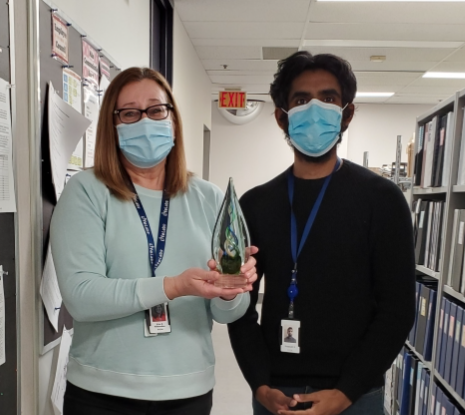 Zita was nominated by former clincial student, Srijaayath (Jaygo) Srichandramohan who has recently accepted a full-time position at LifeLabs.