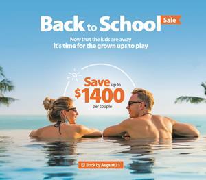 Sunwing's Back to School Sale