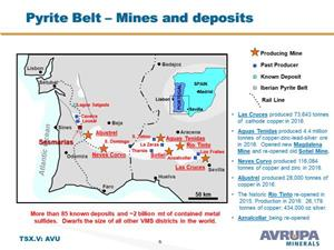 Pyrite Belt Mines and deposits