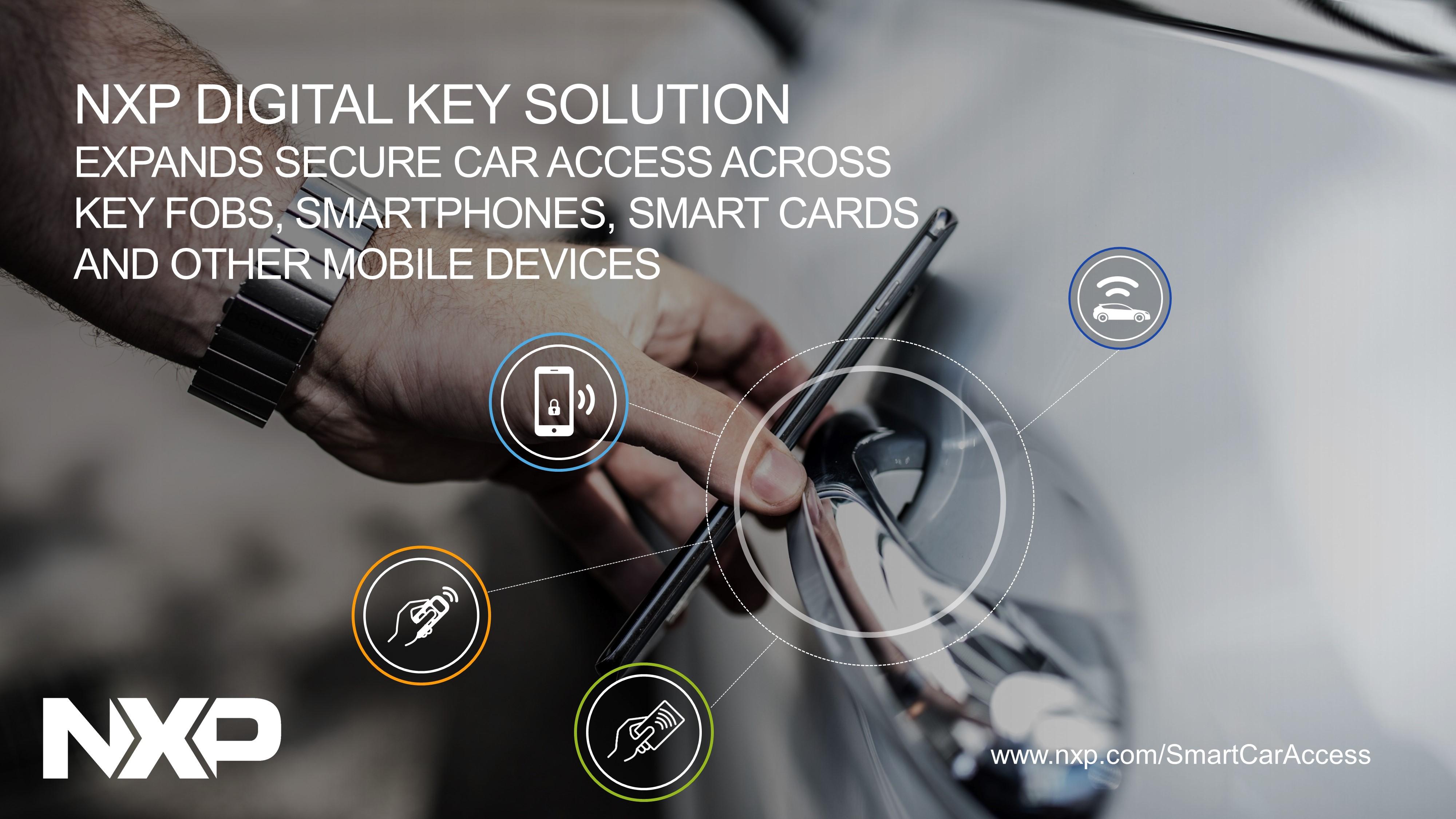 NXPのデジタル・キー・ソリューション、セキュアなカー・アクセスをキー・フォブ、スマートフォン、スマートカードや他のモバイル・デバイス全般に拡大