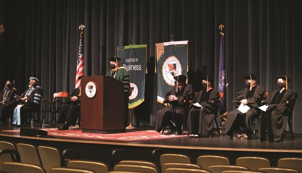 In accordance with CDC guidelines, all guests, presenters and graduating students will need to wear masks at Husson University's 2021 Commencement ceremonies. The Commencement ceremonies will be outdoors at the Dr. John W. Winkin Sports Complex on May 8, 2021. At 10 a.m., there will be a Commencement ceremony for students who have completed master's degrees, doctoral degrees and/or graduate certificates. Later that day, at 2 p.m., there will be a Commencement ceremony for all undergraduate students.