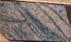 Figure 2 Hornblende-monzonite with magnetite veins