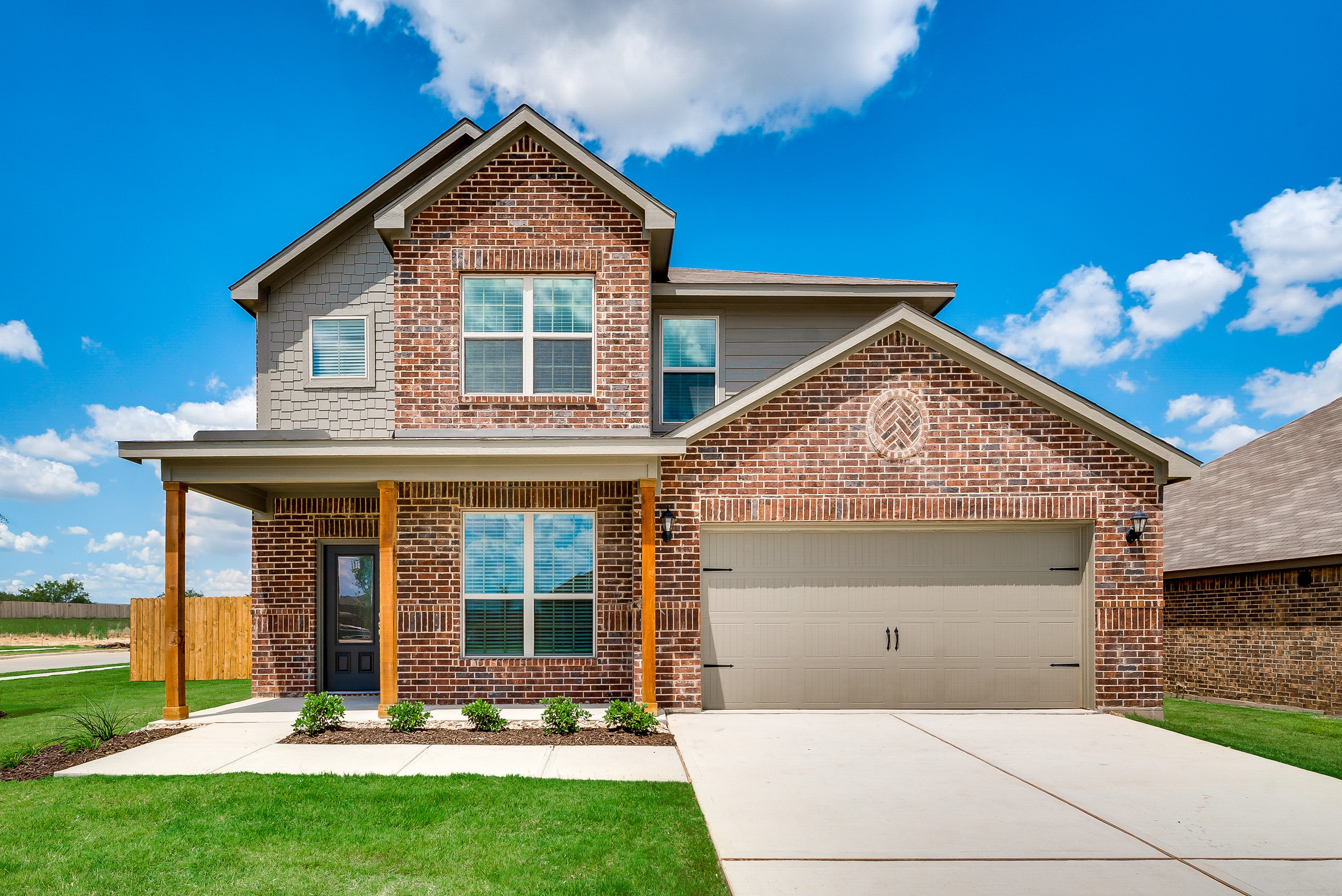 The Superior plan is a popular two-story home available now at Lasater Ranch in Crowley, Texas.