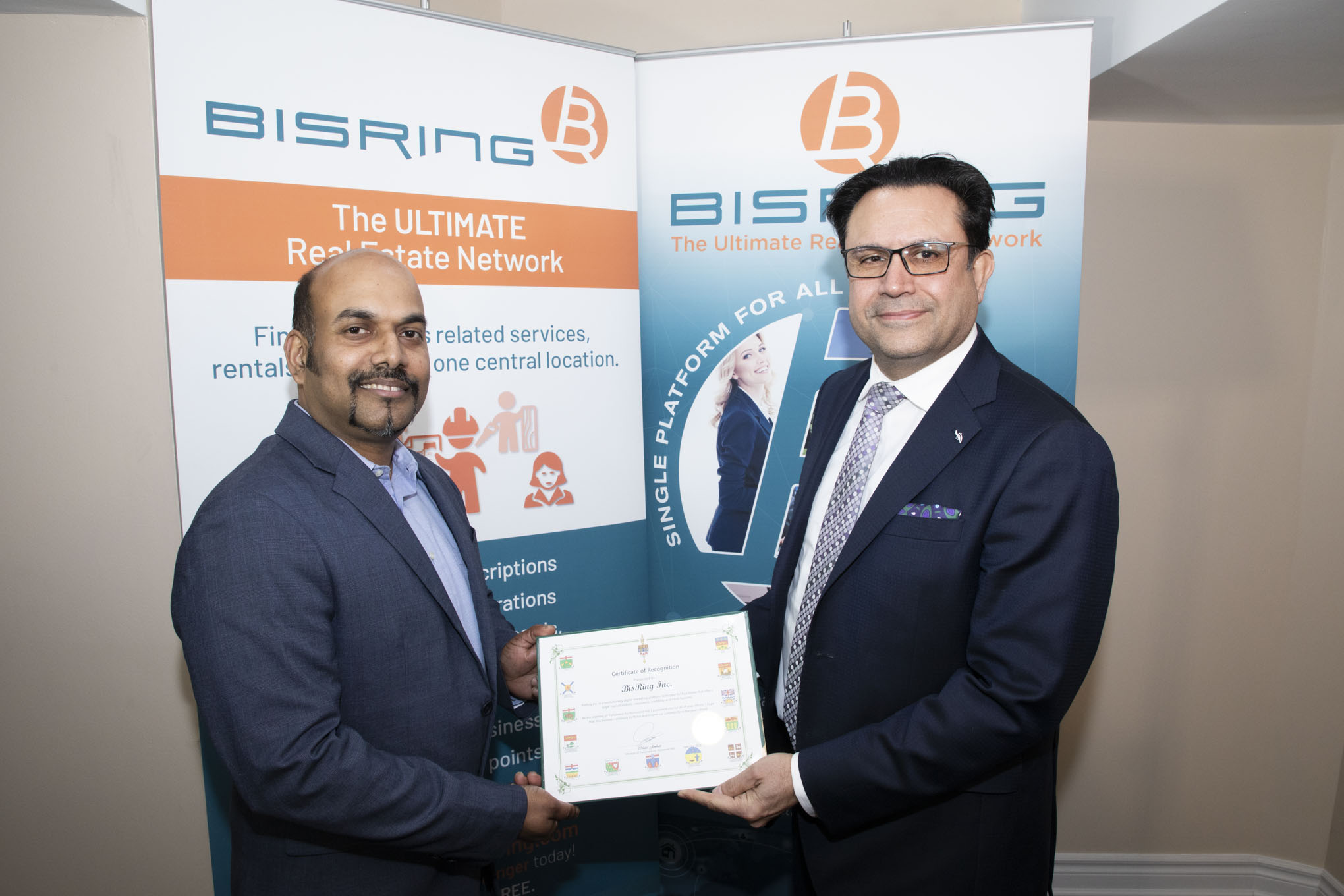 Richmond Hill MP Majid Jowhari's visit to the BisRing office