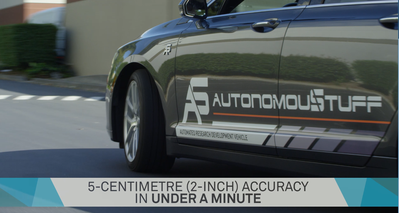 TerraStarX AutonomouStuff 5cm Accuracy in Under 1 Minute