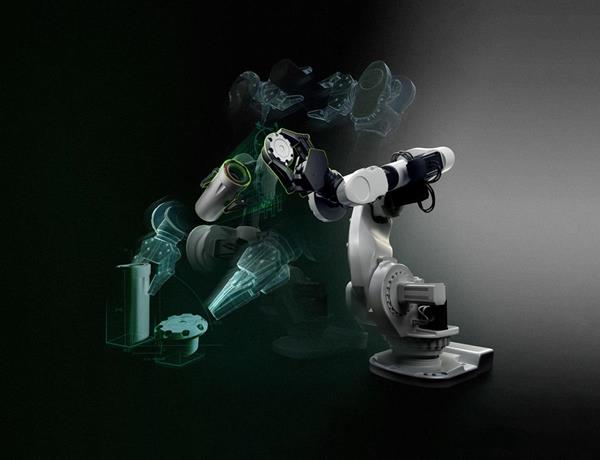 Robot arm with NVIDIA Jetson AGX Xavier for embedded computing