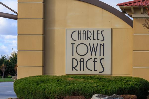 Charles Town, WV: Entrance sign at the Hollywood Casino Charles Town Races complex operated by Penn National Gaming on November 3, 2018, in Charles Town, WV where the highest number of horse deaths at any one track have occurred in 2021.   Photo credit: Shutterstock royalty-free stock photo ID: 1640257198 By George Sheldon