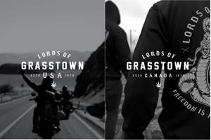 Lords of Grasstown; apparel that captures the biker and legal cannabis culture.