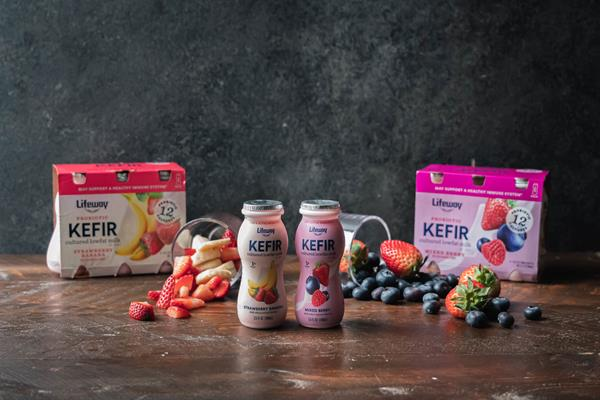 Lifeway Mixed Berry and Strawberry Banana Functional Shots